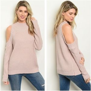 Sweaters - Cold shoulder tunic sweater